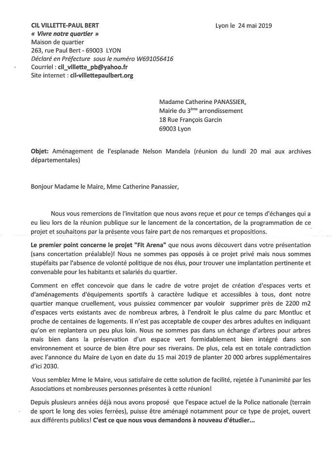 Courrier du CIL concertation projet Esplanade Nelson Mandela_0001